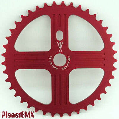 NEPTUNE BMX 42 tooth HELM Sprocket BLUE Gear for 19mm spindles Made in USA!