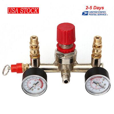 Portable Air Compressor Pressure Switch Control Valvemanifold Regulator Gauges