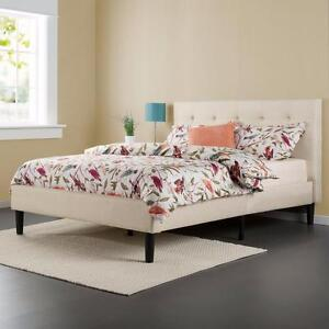 Zinus  Taupe Full Upholstered Platform Bed DOUBLE NEW