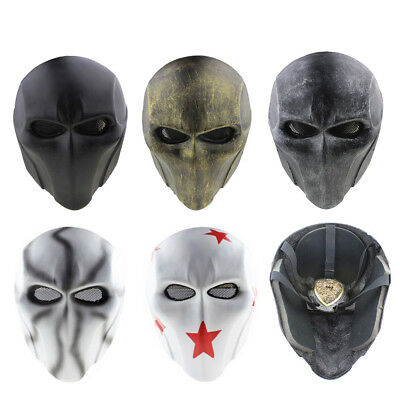 Double Face Halloween (Green Arrow Deathstroke Double Eyes Full Face Mask FRP Cosplay Halloween)