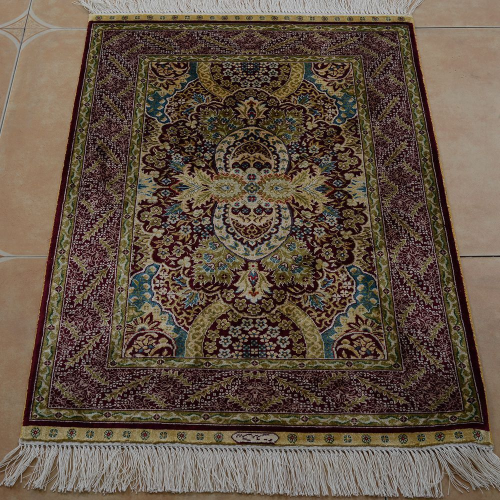 Incredible Yilong 2X3 Floral Handmade Persian Silk Carpet Family Room Complete Home Design Collection Barbaintelli Responsecom
