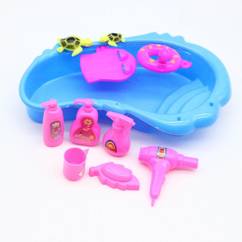 9 Pieces Bathtub Set For Barbie Doll