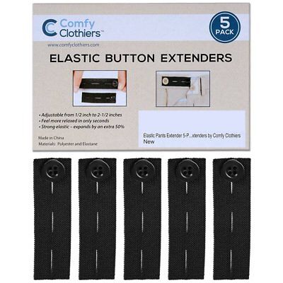 Elastic Trousers Adjustable Extenders Pants and Jeans Waist 4 Button Extender