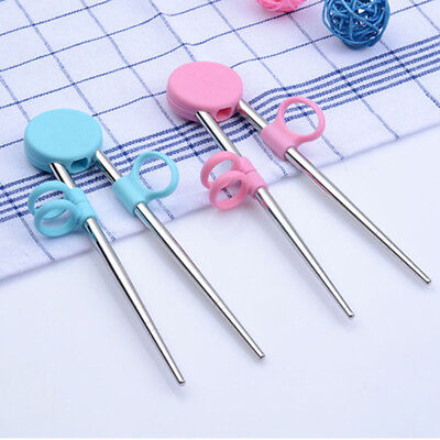 Cartoon Child Training Chopstick Stainless Steel Learning For - Chopsticks For Kids