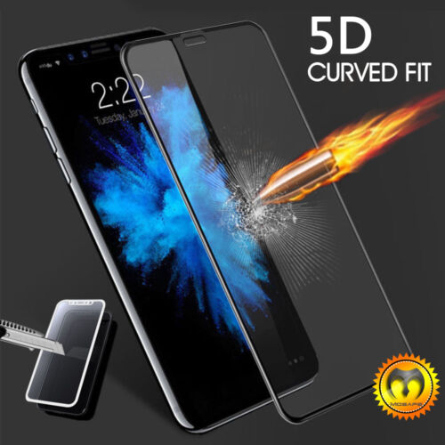 For iPhone X XS Max XR 7 8 Plus Full Coverage Tempered Glass