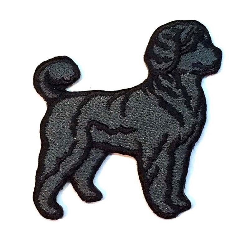 Portuguese Water Dog Iron On Embroidered Patch