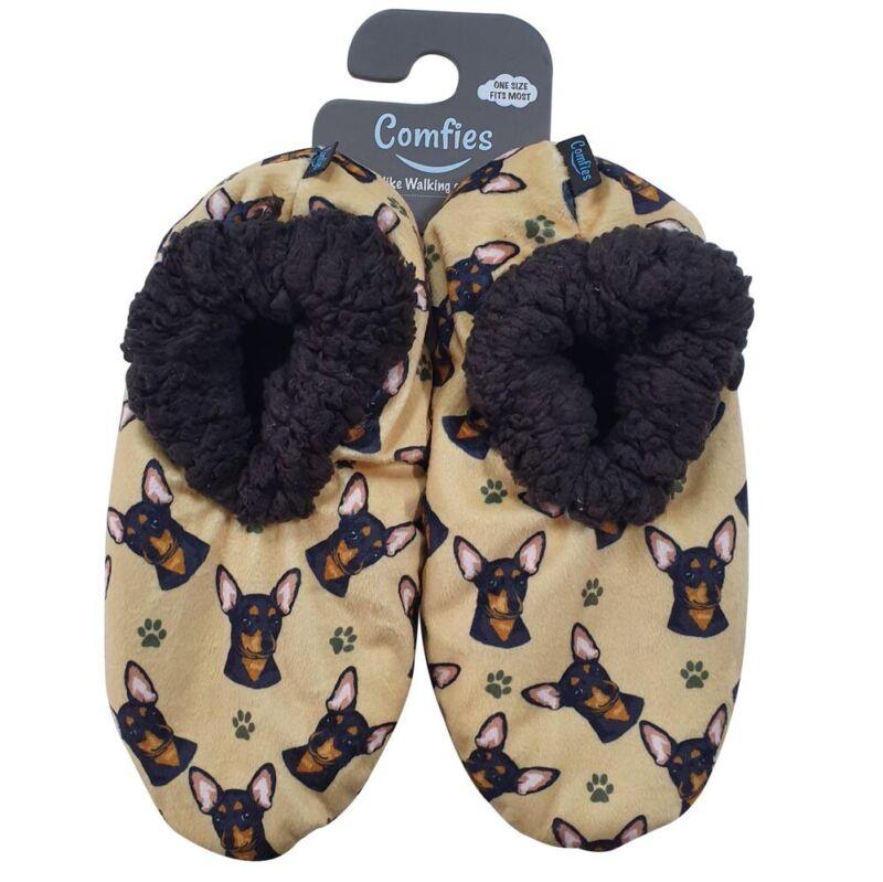 Chihuahua Slippers Black - Non Slip