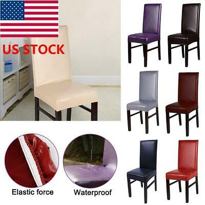 Dining Chair Covers Leather Slip Cover Wedding Banquet Decor