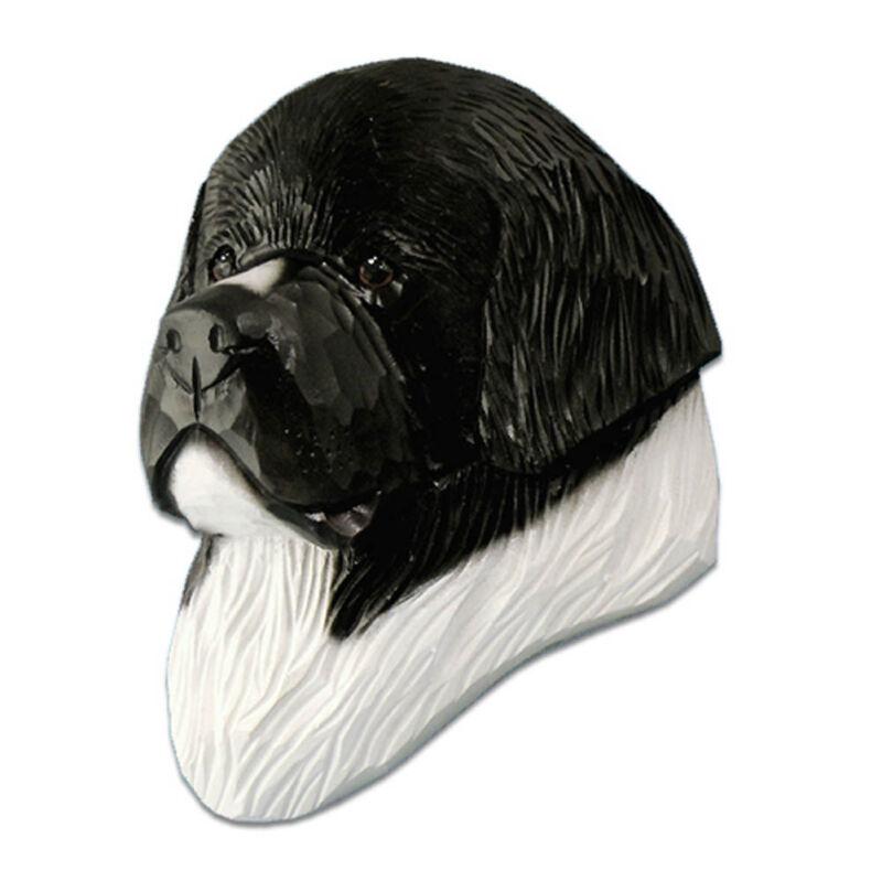 Newfoundland Head Plaque Figurine Landseer