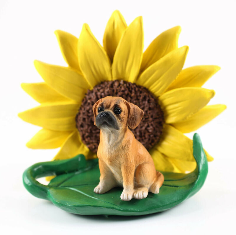 Puggle Sunflower Figurine