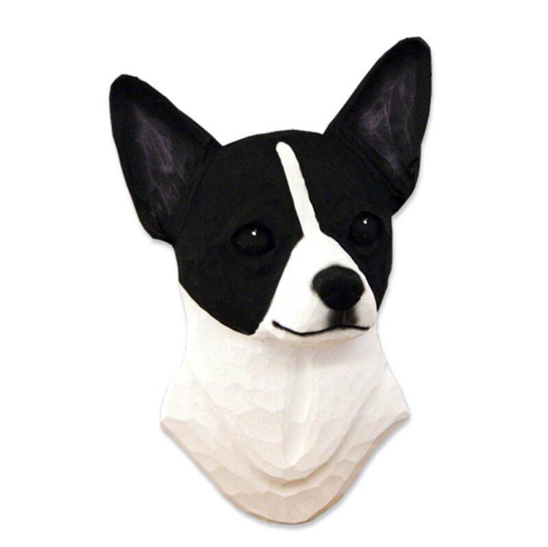 Chihuahua Head Plaque Figurine Black/White