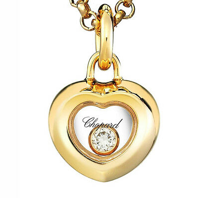 Chopard Happy Diamonds 18k Yellow Gold Heart Pendant & Chain Necklace