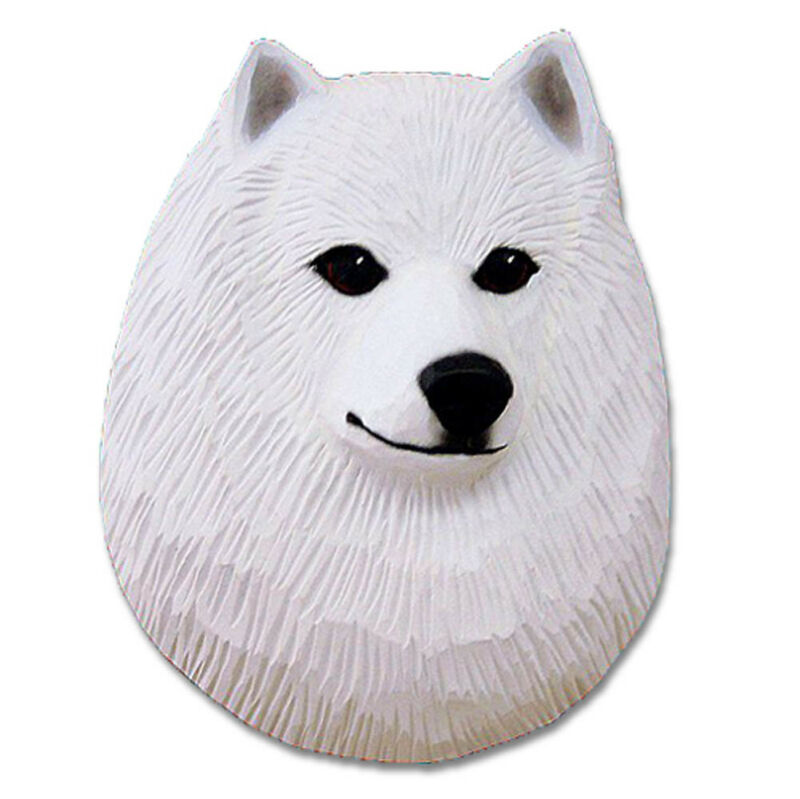 American Eskimo Dog Head Plaque Figurine