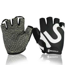ELECYCLES Summer Half Finger Gloves with Shock-absorbing Gel Pad