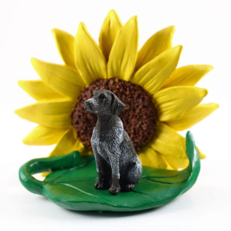German Shorthair Pointer Sunflower Figurine