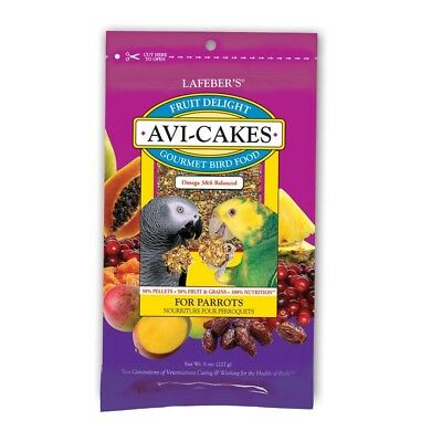 Lafeber Avi-Cakes Fruit Delight Gourment Parrot Food 8 oz | Fruity Foraging (Avi Cakes Food)