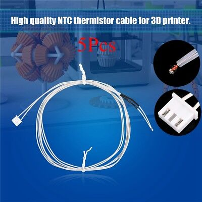 5pcs Thermistor Ntc 3950 100k Temperature Sensor Wire For 3d Printer Bed Hot End