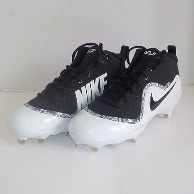 sale retailer 0eb40 ccb81 Nike FORCE AIR TROUT 4 PRO Metal Baseball Cleat BLACK WHITE 917920 001 SIZE  7