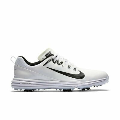 NIKE Lunar Command 2 Golf Shoes/Spikes 849968-100 White/Black (MEN'S 11.5)