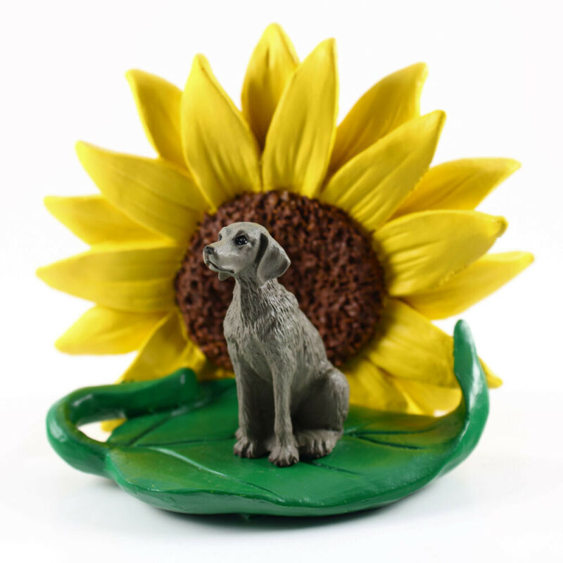 Weimaraner Sunflower Figurine