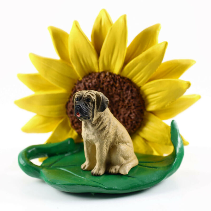 Mastiff Sunflower Figurine