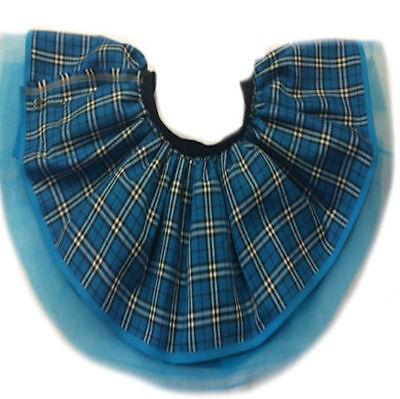 T SCARF 80S FANCY DRESS PUNK GOTHIC CLUB WEAR BLUE PURPLE (Neon Blue Tutu)