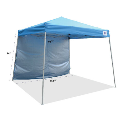 Pop up Canopy Tent SIDE WALL ONLY 10x10 / 8x8 Fit Slant Leg Frame Blue Sidewall