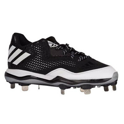 Adidas PowerAlley 4 Black Metal Baseball Cleats (Q16481) Men's Size (Black Metal Baseball Cleats)