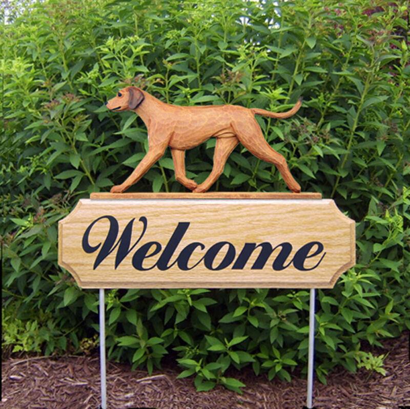 Rhodesian Ridgeback Wood Welcome Outdoor Sign
