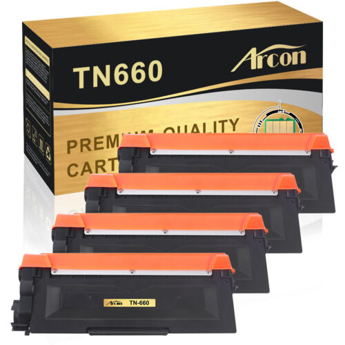 4PK Toner Compatible for Brother TN660 TN-660 MFC-L2700DW HL-L2340DW HL-L2300D