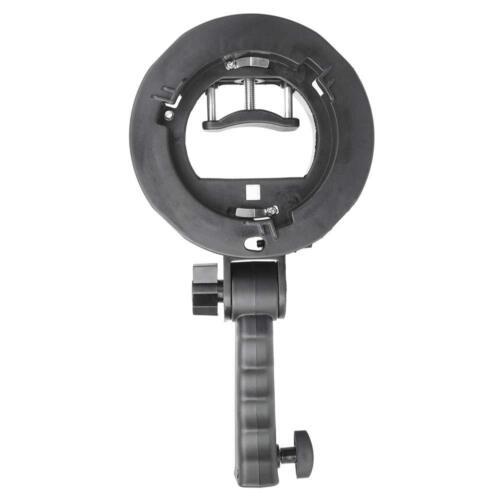 S-Type Speedlite Bracket w/Bowens Mount Holds Up 1 Flash for Canon Nikon Sony