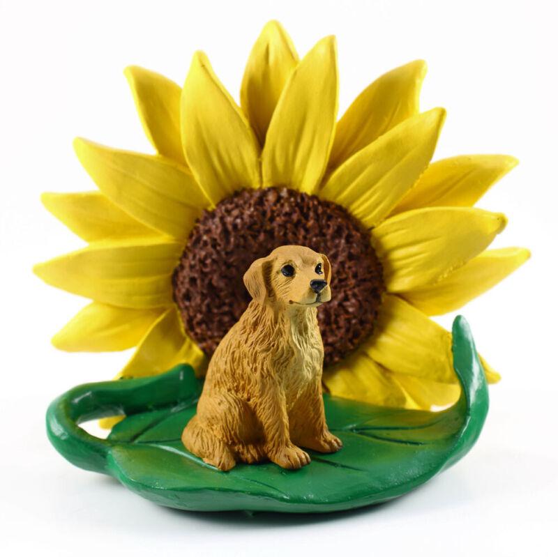 Golden Retriever Sunflower Figurine