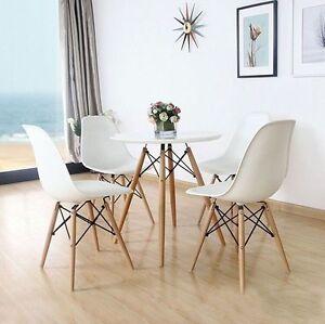 4 Stück Esszimmerstuhl Wohnzimmer Stuhl Kunststoff Büro Stühle Weiß .