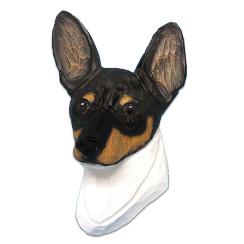 Fox Terrier Head Plaque Figurine Tri Toy