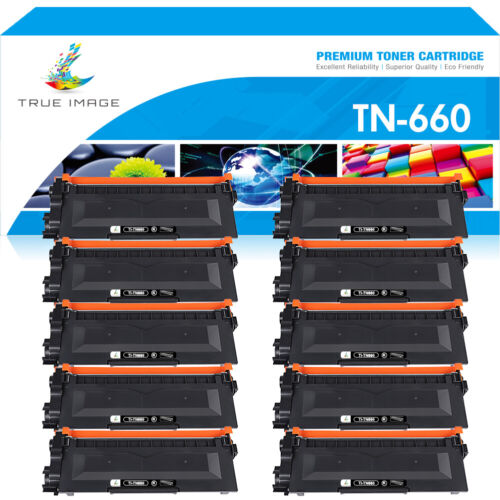 10PK TN660 TN-660 Toner Compatible for Brother HL-L2320D L2340DW L2360DW L2380DW