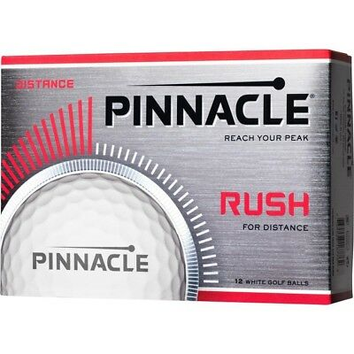 Pinnacle Rush Golf Balls  One Dozen  White W Logo Nib
