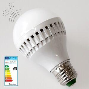7W LED Radar Lampe Birne E27 mit Bewegungsmelder Sensor Lampe
