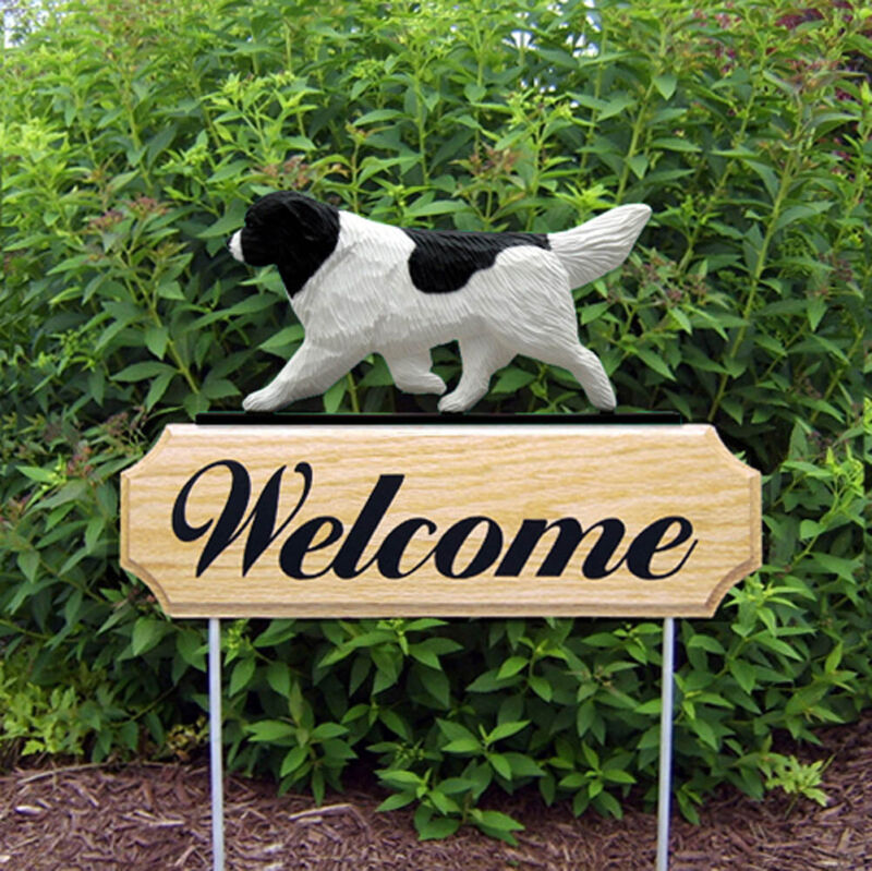 Newfoundland Wood Welcome Outdoor Sign Landseer