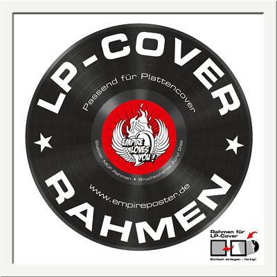 Rahmen für LP-Cover Profil: 15mm Kunststoff 34,5x34,5cm weiß