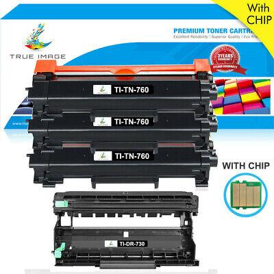 Blk Compatible Drum - DR730 Drum TN760 Toner with Chip for Brother HL-L2350DW HL-L2370DW MFC-L2710DW
