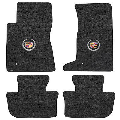 2011-2014 Cadillac CTS-V Coupe 4pc Ebony Black Ultimat Floor Mat Set with Logo