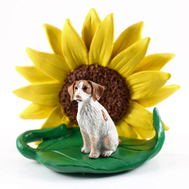 Brittany Sunflower Figurine Brown