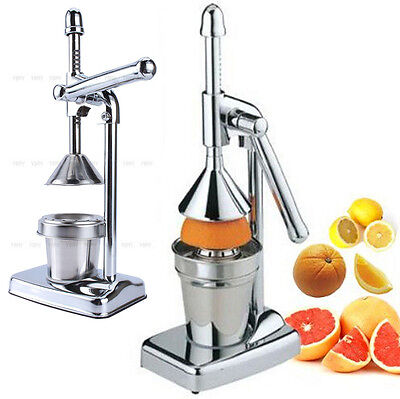 Hand Press Squeezer Commercial Manual Juicer Orange Citrus Fruit Juice Extractor