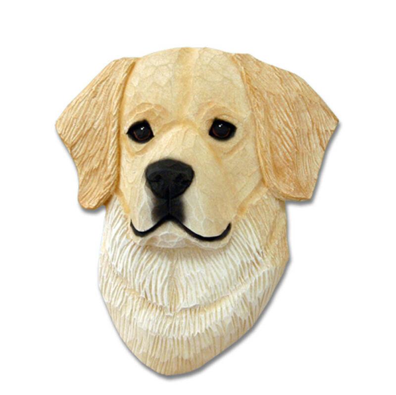 Golden Retriever Head Plaque Figurine Cream
