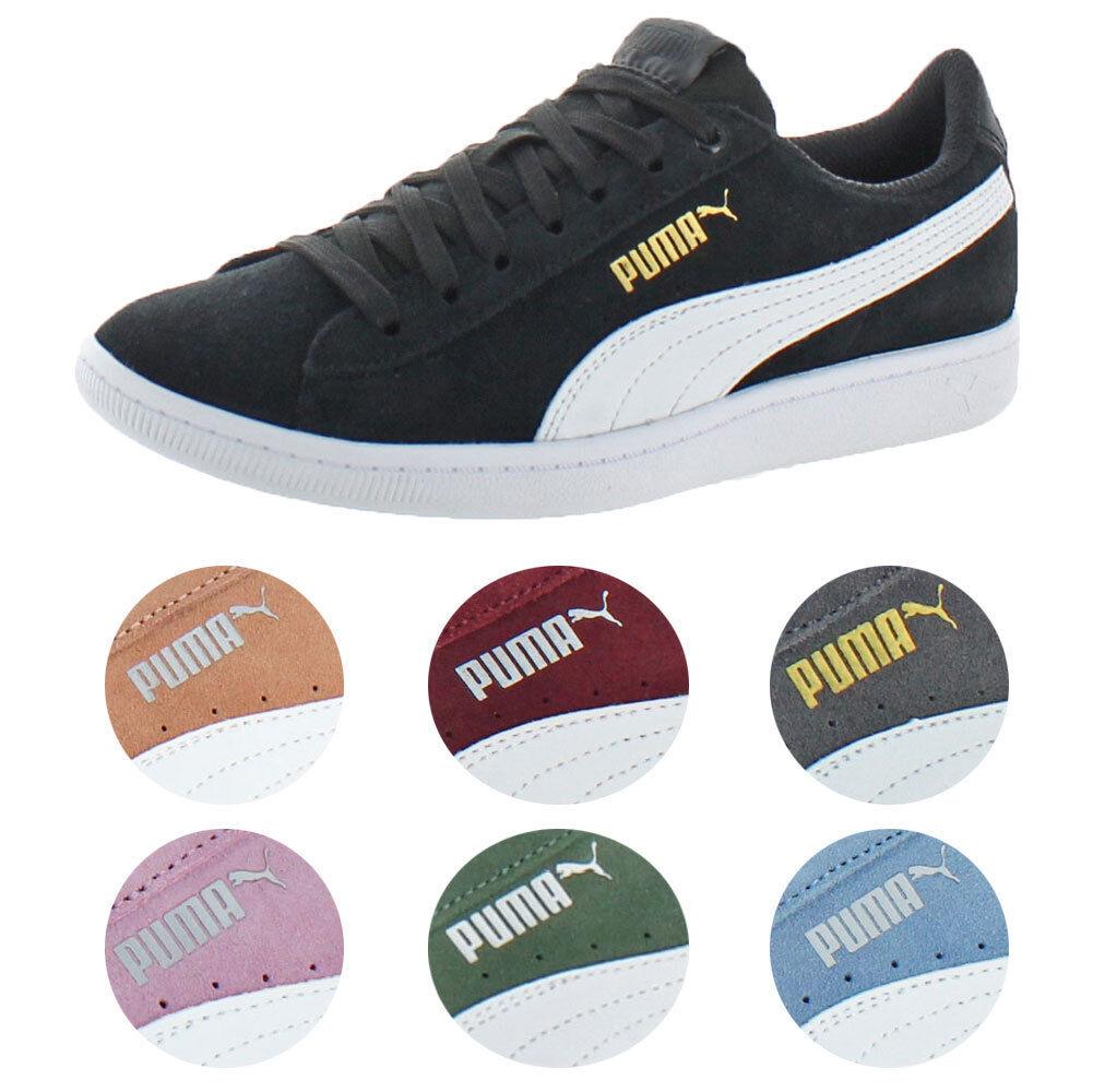 Puma Vikky Women's Suede Softfoam Court Low-Top Fashion Sneaker Shoes