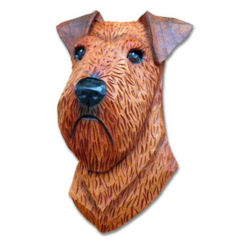 Irish Terrier Head Plaque Figurine