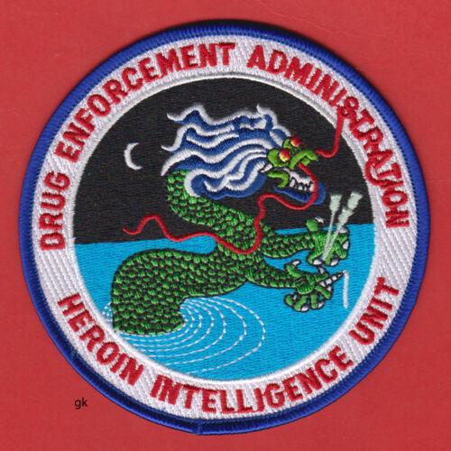 DEA DRUG ENFORCEMENT HEROIN INTELLIGENCE UNIT POLICE DRAGON SHOULDER PATCH
