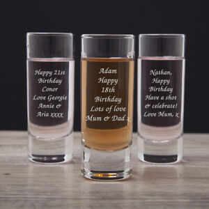 Personalised Shot Glass For Birthday 18th 21st 30th Gifts Ideas Girls Mens Him