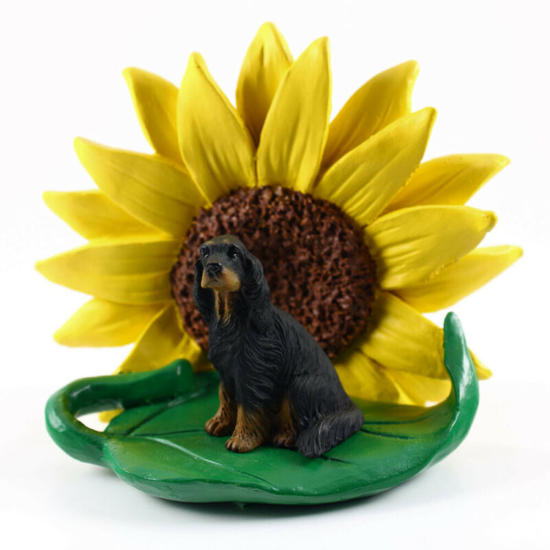 Gordon Setter Sunflower Figurine