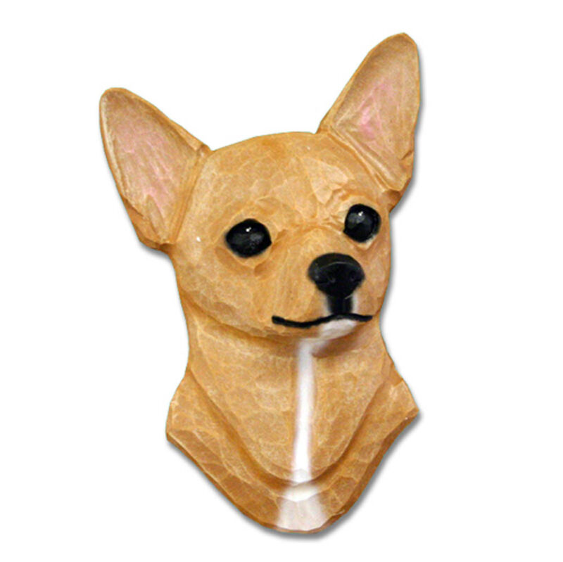 Chihuahua Head Plaque Figurine Fawn
